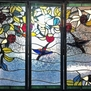 Custom Hummingbird Stained Glass Panels