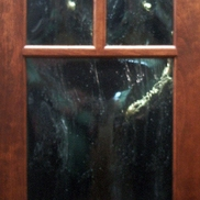 Bubble Glass Mullion Door
